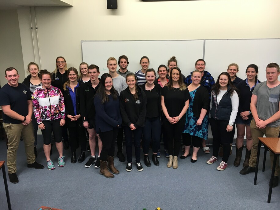 Massey University RMN members with Emma Higgins, Analyst with Rabobank